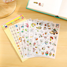 6 Pcs/pack South Korea Stationery Transparent Cute Rabbit First Quarter Diy Photo Album Stickers Cartoon Pictures Mobile Phone