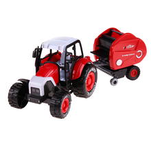 1:32 Engineering Alloy Farm Tractors Trailers Model Engineering Car Truck Harvest Vehicle Toy with Music Lighting Pull Back Car(China)
