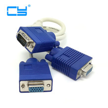 RGB VGA SVGA Male to 2 VGA HDB15 Female Splitter Adapter extension Cable w/ core