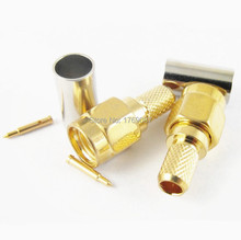 10pcs SMA Male Crimp RG58 LMR195 RG142 RG400 RG223 RF Connector(China)
