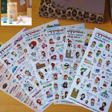 6 Sheets Cute Anne's Diary Travel Stickers Decoration Scrapbook Photo Korean good quality