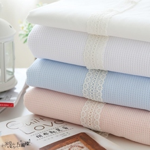 150x50cm fabric Honeycomb cotton  mini waffle Pure Cotton Style Cotton Cover Blanket Cloth Lining cloth diy bedding apron fabric