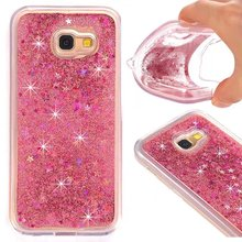 For Samsung Galaxy J5 Prime Case Water Liquid Bling Sandglass Glitter Star Diamond Cool Soft Cover Playing Boring Kill Times Hot