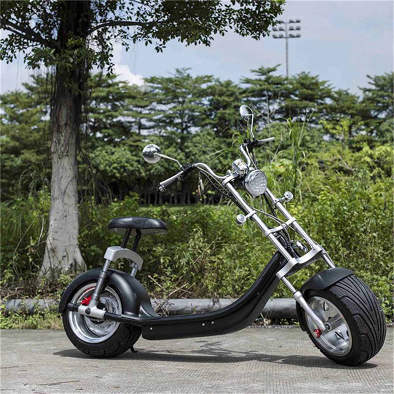 Electric Scooter Citycoco Two Wheels Electric Scooters Big Wheels 60V 1000W Harley Electric Scooter With Seat (3)