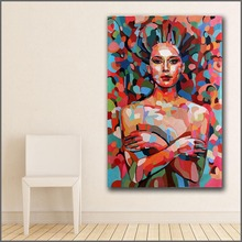 Large Printing Sexy Goddess pop Abstract art Wall Art Picture Home Decor Living Room Modern Canvas Print No Frame Paintings(China)