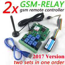 Fast Express delivery 2 sets GSM Relay Remote Control board with Seven Relay Real-Time Switch output GSM QUAD Band design