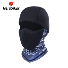 HEROBIKER Motorcycle Face Mask UV Protection Balaclava Moto Neck Full Face Mask Dustproof Airsoft Paintball Tactical Helmet Mask