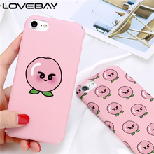 LOVEBAY Phone Case For iPhone 7 7 Plus Cartoon Fruit Cute Sweet Many Juicy Peach Hard PC Back Cover Case For iPhone 7 Plus