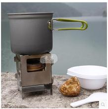 Portable Charcoal BBQ Grill Wood Stove Light weight Folding Stainless Steel Outdoor Camping Stove Alcohol Stove