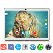 Free Shipping Google Play Store Android 5.1 OS 10 inch 4G LTE Tablet Octa Core Tablet 10.1 4GB RAM 32GB ROM Dual Cameras GPS MID