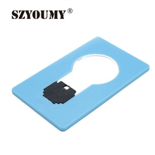 SZYOUMY Hot Sale Portable LED Card Lamp/Light Mini Bulb Shape LED Credit Card Lamp Wallet Size New Design Emergency Use(China)