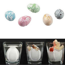 Novel Water Hatching Inflation Dinosaur Egg Watercolor Cracks Grow Egg Educational Toys (color send by random)(China)