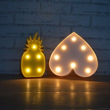 Lumiparty 3D Pineapple Lamp Romantic Dim Mood Lamp Plastic Lighted Pineapple LED Baby Night Light Christmas Home Decor Lights
