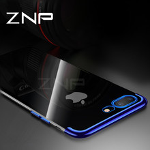 ZNP Luxury Transparent Phone Case For iPhone X Cases 3D Plating Shining Silicone Soft TPU Cover Case For iPhone X 10 Shell(China)