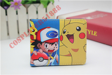 anime Pocket Monster Pokemon GO poke ball pikachu cosplay wallet men women short purse leather pu coin bag 18 style(China)