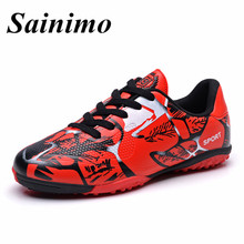 2017 Newest Professional Football shoes man Soccer shoes Cleats Traning Honeycomb Mesh Soccer Shoes Men FG kids Outdoor sneakers