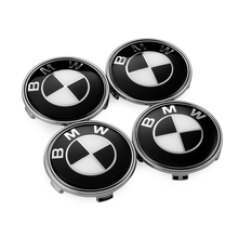 4PCS BMW Wheel Center Caps 68mm Black White BMW Emblem Badge Logo BMW E46 E30 E39 E34 E90 E60 E87 M3 M4 F10 F20 F30 X5 1 3 5 X5(China)