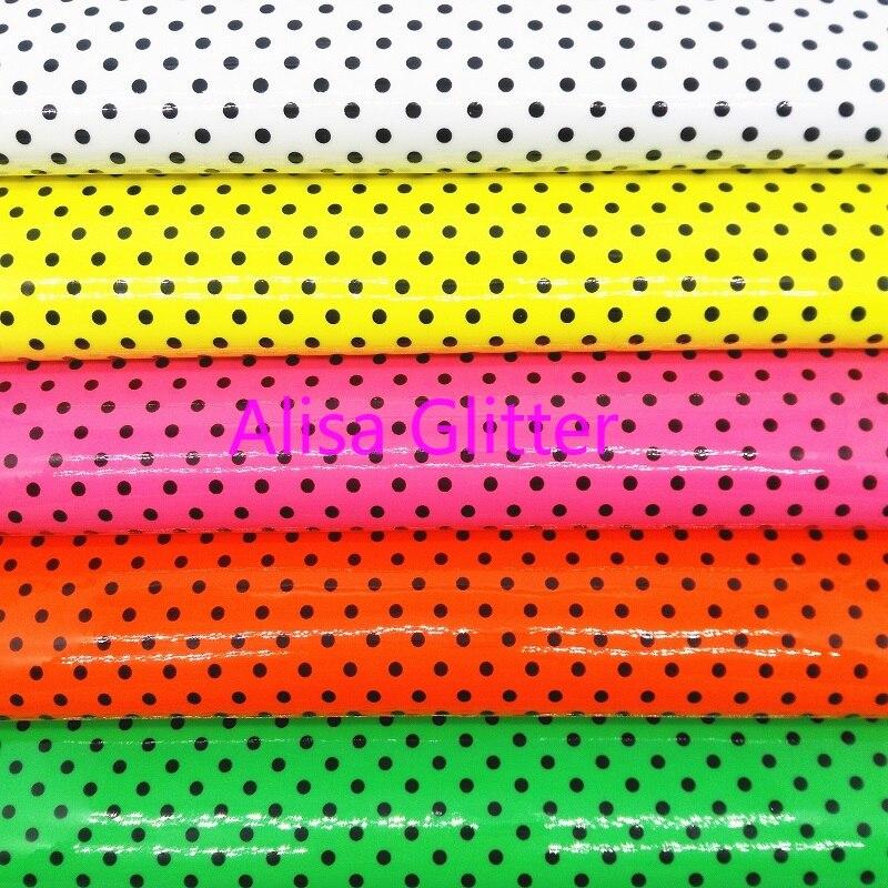Patente De Neón De Cuero sintético TELA imitación de cuero de calidad Premium Para Artesanías /& Arcos