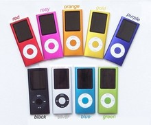 "Dropshipping!!! 4th Slim 1.8""LCD flash MP3 MP4 Player FM Radio Player support tf card player 9 colors"