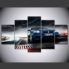 DAFENJINGMO ARTS 5 Pieces  Printed BMW m5 f10 sedan Painting on Canvas Room Decoration Print Picture Canvas Decoracion Artworks