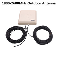 Multi-function 1800-2600MHz Outdoor LTE sector Panel Antenna 9dBi Gain with 2pcs 15m RG58 Cable + SMA MALE Conntector