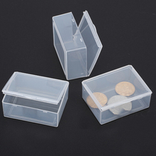 Wholesale New 5 Pcs/lot Store Clear Plastic Transparent With Lid Storage Box Collection Coin Jewelry Container Case