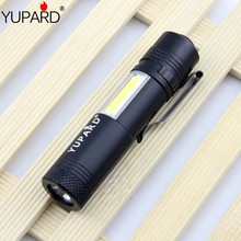 YUPARD Q5 LED COB Flashlight Waterproof mini bright torch lantern AA 14500 rechargeable battery camping light outdoor lamp - NingBo Yupard Outdoor Co.,Ltd store