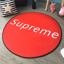 Red Supreme Round Carpet Diameter 60/80/100/120cm Computer Chair Swivel Chair Basket Tent Carpets Mat Kids Bedroom Crawling Mats
