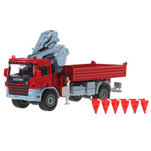 KAIDIWEI Alloy engineering vehicle model 1:50 truck crane truck crane simulation toy factory
