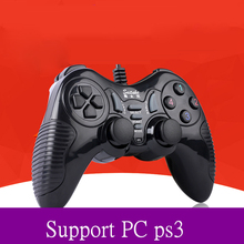 High Quality Black USB Wired pc Game gamepad  For PS3  Xbox360 PC Console FOR PS3 Game Gamepad Support gamepad  vibration