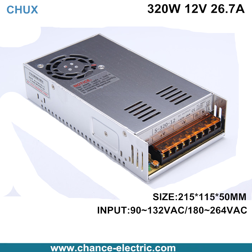 320W Switching Power Supply  single output 12V 26.7a ac/dc input for cnc led light Direct Selling 301 - 400W (S-320W-12V)<br><br>Aliexpress
