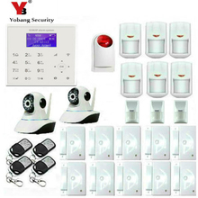 YobangSecurity WiFi GSM GPRS Burglar Alarm House Surveillance Home Security System With IP Camera Pet Friendly Immune Detector
