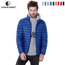 2016 Winter Feather Parkas Ultralight Down Pocketable Portable Thin Jackets Thermal Men Puffer Goose Duck Down Outerwear