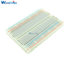 400 Tie Points Holes Universal Solderless PCB Breadboard Mini Test Protoboard DIY MB102 Bread Board For Bus Test Circuit Board(China)