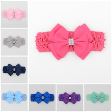 hair elastic bands ribbon bows kids head wraps accessory headbands satin flower hairband headwrap(China)