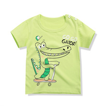 New Summer Baby T Shirts for boys girls Cotton Short Sleeve Cartoon Print Brand Tees Spring Kids Cute Tops Thin Short Sleeve