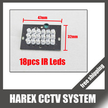 Security IR leds for cctv camera 18 LED F5 IR Infrared Illuminator Board Plate . Free Shipping