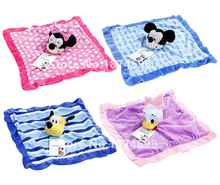 New Mickey Minnie Daisy Duck Pluto Dog Plush Blankie for Baby Toy Newborn Reassure Towel Snuggle Blanket Kids Girls Boys 30*30cm(China)