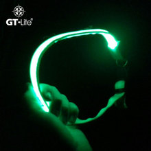 GT-lite 8-color luminous LED dog pet cat flashing light nylon collar late security tie light collar  S M L Size GTTL114