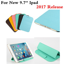 New Women Man Fashion PU Leather bag case sleeve super slim Pouch Sleeve Can Stand cover For New ipad 9.7'' 2017 Release Tablet