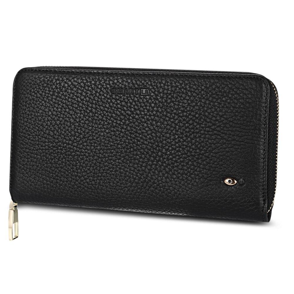 New Fashion Genuine Leather Men Wallet Multi Function Smart Tracker Finder GPS Men Purse Wallet Rechargeable Card Holder Brand<br>