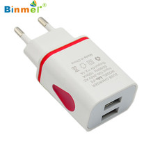Hot-sale High Quality USB Power Adapter EU Plug Gifts LED USB 2 Port Wall Home Travel AC Charger Adapter For S7 EU Plug