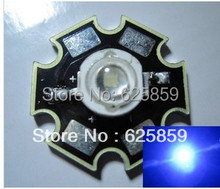 Free shipping 50PCS 3W Royal Blue High Power LED Emitter 700mA 440-455NM with 20mm Star PCB
