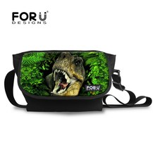 Cool High School Teenager Boys School Bag 3D Animal Dinosaur Schoolbag for Kids Casual Cotton Children Shoulder Bookbags(China)
