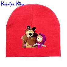 Sale 0-2y baby hat autumn winter thicken warm cotton infant bonnet cartoon print newborn photography props children caps zk0901