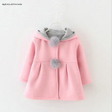 2016 Korean Stype Baby Girl Coat Kids Winter Autumn Jackets Kids Clothes 3 Colors Available Elegant Clothing Outerwear Hot Sale