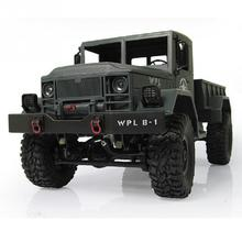 New 4WD Military RC Truck 2.4G WPLB-14 Off Road Vehicle Remote Simulation Of Military Vehicle Climbing car Toy for Children(China)