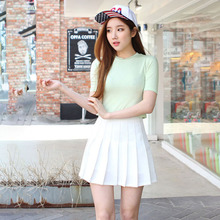 Tenni Skirt Women Girls Short High Waist Pleated Skater Skirt School Skirt Uniform With Inner Shorts Skirt