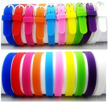 diylocket 8MM Silicone Wristband Bracelets Can Choose Color 20 pieces DIY Accessory Fit Slide Letter /Slide Charms LSBR09*20(China)