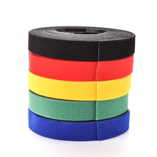 New Hot 5 Color 1 Roll Self Adhesive Hook and Loop Tape Fastener Strip Solid Black With Stickiness(China)